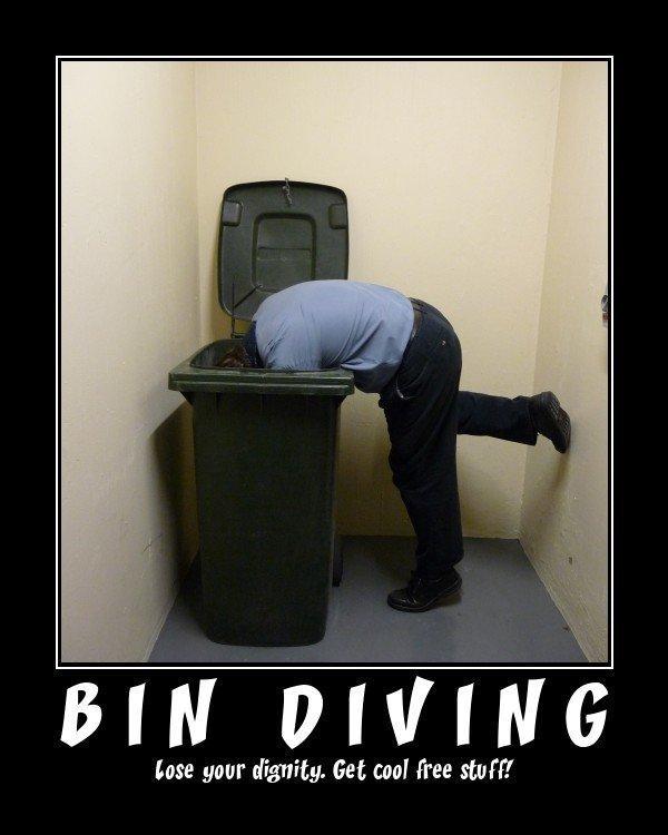 Dumpster Diving is Fine.